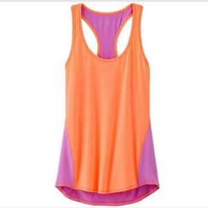 Athleta Colorblocked Chi Pink and Purple Tank